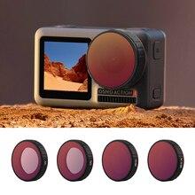 Filtr obiektywu dla DJI OSMO działania CPL UV ND 4 8 16 32 ND4 PL ND8 PL ND16 PL ND32 PL zestaw filtrów akcesoria do kamer w ruchu