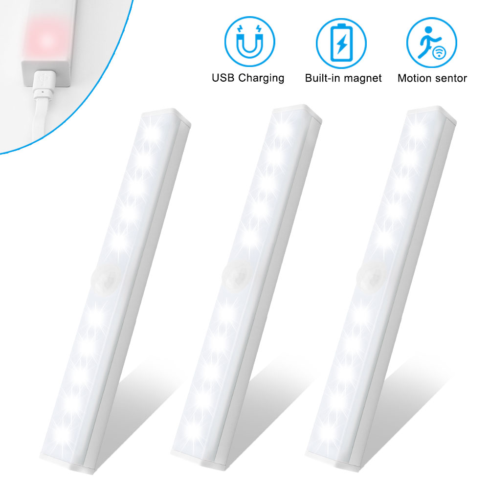 USB Ночник светильник s 5V перезаряжаемый аккумулятор датчик движения светильник для спальни шкаф лестницы кухонный шкаф Lamparas 15 см/21 см/30 см|Ночники|   | АлиЭкспресс