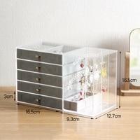Acrylic Transparent Makeup Organizer Storage Boxes Make Up Organizer for Cosmetics Brush Organizer Home Storage Drawers Type