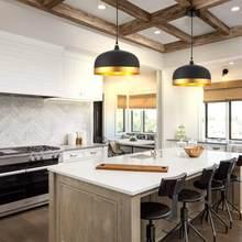 Ohr éclairage Lisse saturne or et noir lustre abat-jour, lustre intérieur moderne éclairage décoratif lustre