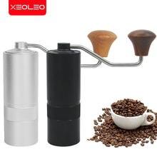Xeoleo manual moedor de café alça de alumínio moedor manual mão grãos café rebarba moedor viagem ao ar livre portátil café miller