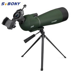 SVBONY SV28 20-60x80 Zoom Spotting Scope BK7 Prism MC Lens Birdwatching Hunting Monocular Telescope Spyglass Waterproof F9308