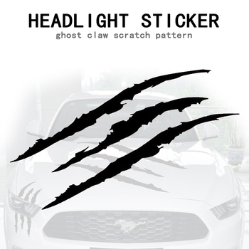 Universal Auto Headlight Claw Stripe car Sticker for volkswagen golf 4 ford focus 3 toyota auris seat exeo bmw e46 audi A1 A2 image