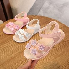 Toddler Infant Kids Baby Girls Star Sequins Bling Beach Princess Shoes Sandals(China)