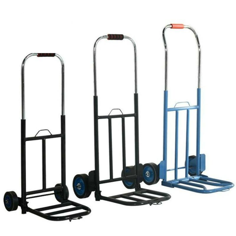 Folding luggage car heavy king hand cart transportation shopping trailer portable pull cargo trolley small
