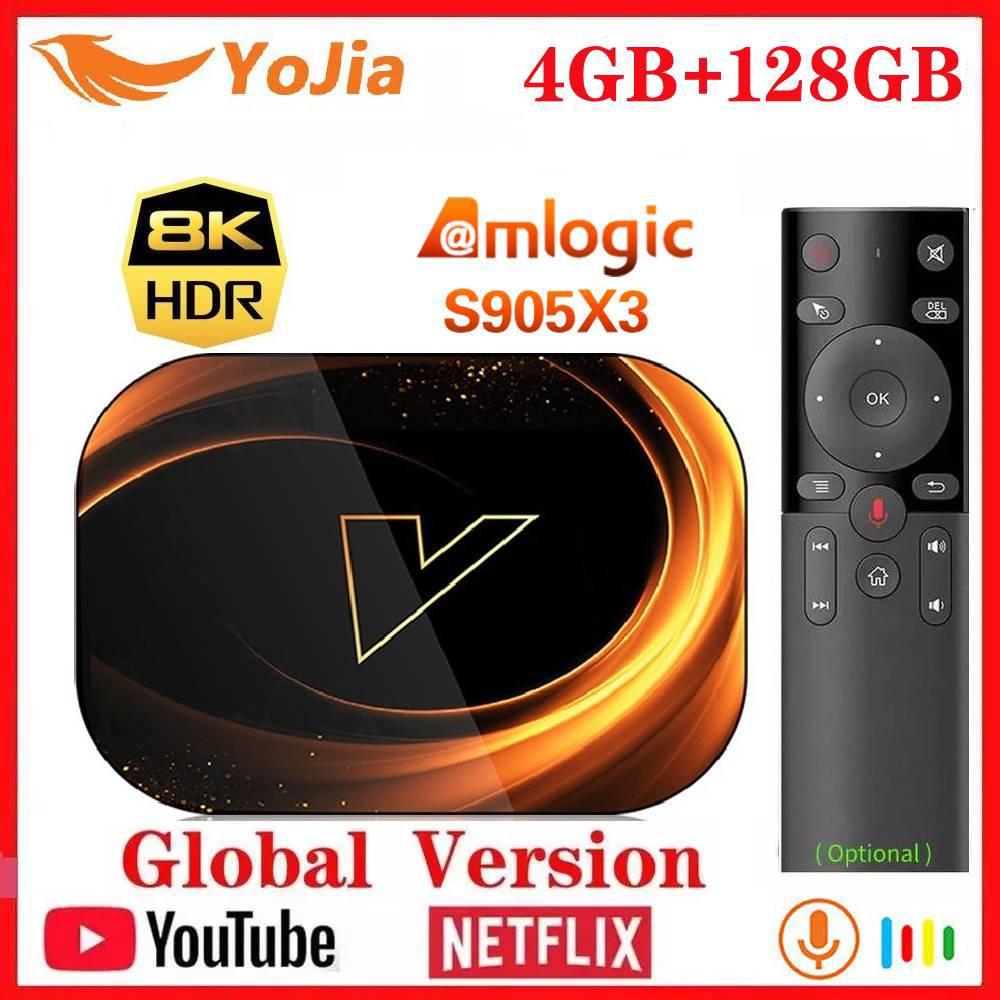 Media-Player Tv-Box Netflix 8K Dual-Wifi Smart Android 9.0 Amlogic S905x3 1000M 4GB-RAM