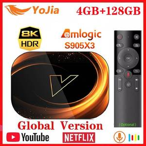 2020 NEW X3 Smart 8K TV Box Android 9.0 Amlogic S905X3 Max 4GB RAM 128GB ROM 64GB 1000M Dual Wifi Netflix Youtube Media Player(China)