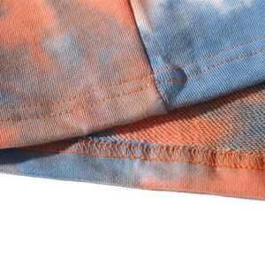 Image 5 - מזדמן רופף צבע עניבת O צוואר נים חולצות Mens היפ הופ הברנש פאנק רוק Streetwear הסווטשרט מגשר אופנה הדפסת חולצות