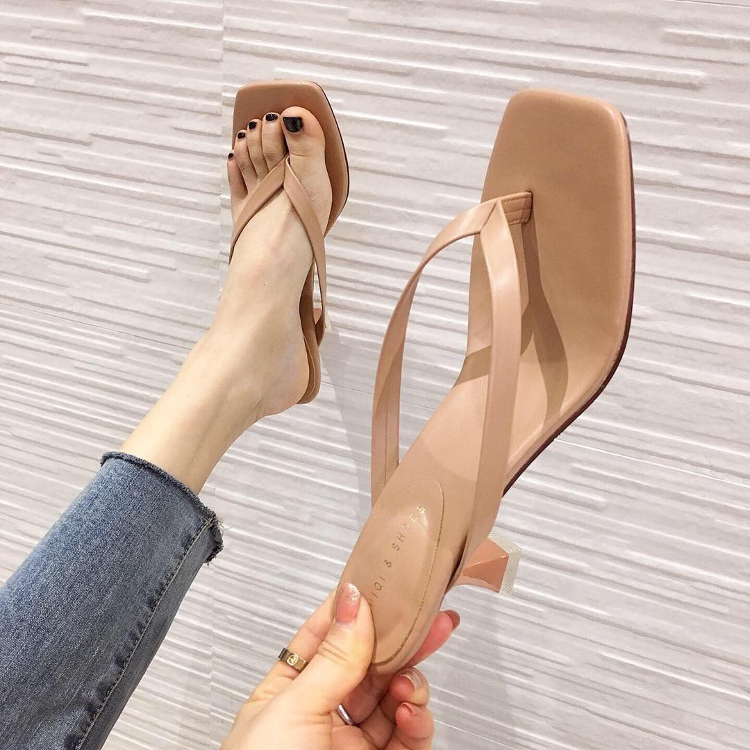 2020 New Brand Women Summer Slippers Spike High Heel Gladiator Beach Flip Flop Slides Slip On Women Outdoor Sandal