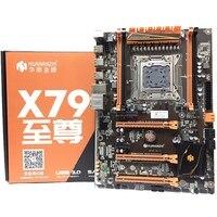 HUANANZHI Deluxe X79 2011 DDR3 PC Desktops Motherboards Computer Computer Motherboards 3xPCI E X16 7.1 Sound Track Crossfire