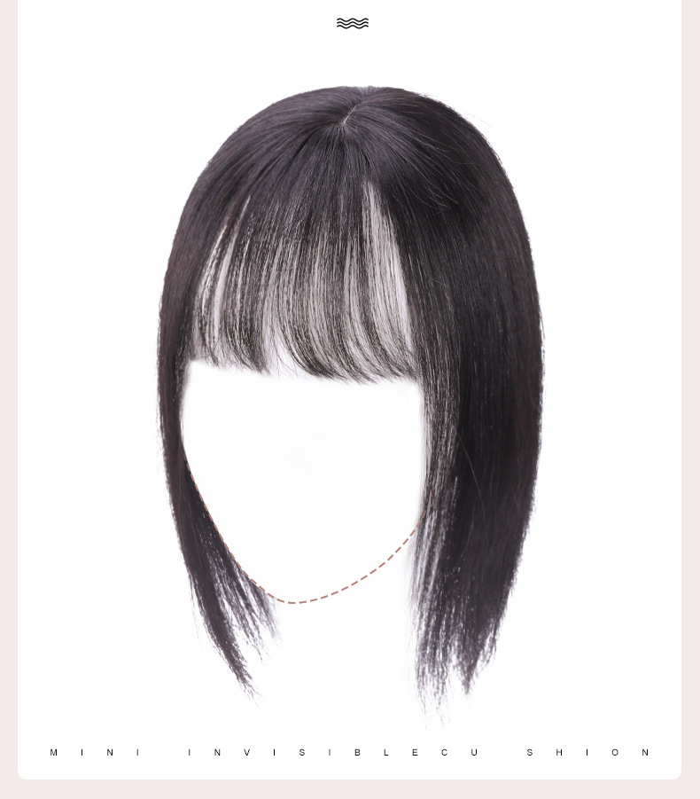 10inch Skin Topper with Bangs Chinese Human Hair Toupee With 2 Clips In Hair Topper 8cmX12cm Custom Size Hairpiece Natural Scalp
