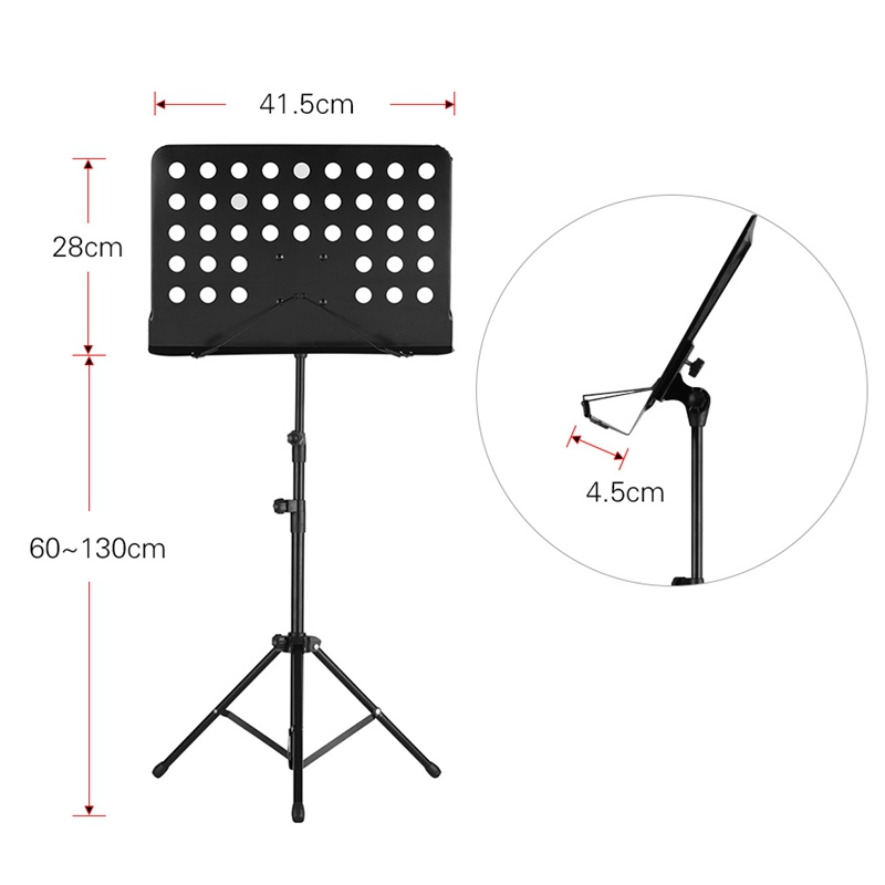Portable Metal Music Stand Detachable Musical Instruments For Piano Violin Guitar Accessories