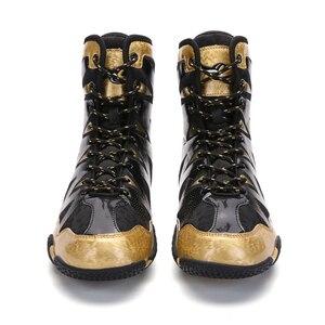 Zapatos de boxeo profesionales para hombre, botas de boxeo de altura hasta el tobillo alto, talla grande 37-46, zapatillas de lucha de calidad