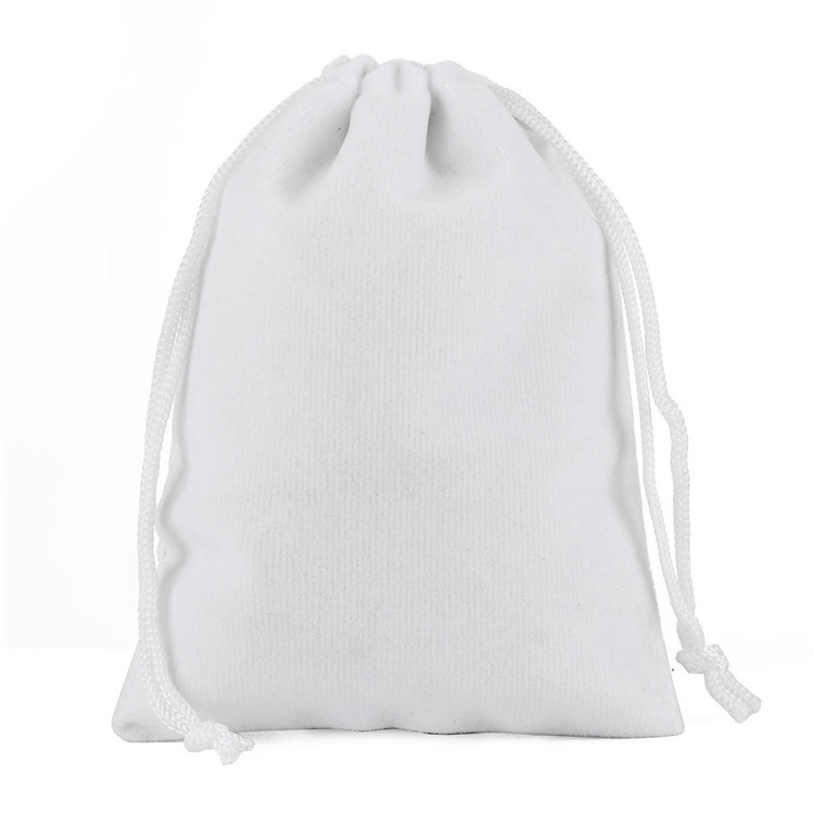 50pcs/lot 15x20cm Black White Velvet Bags Drawstring Pouches Packing Gift Bags & Pouches Packaging Bag Personalize Print Logo