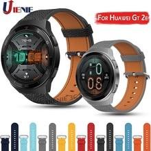 Correa de cuero para Huawei Watch Gt 2e 46mm /gt 2 46mm, repuesto de pulsera deportiva