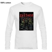 SEETHER-Camiseta con control de la inteligencia para hombre, camiseta de oficial de talla grande