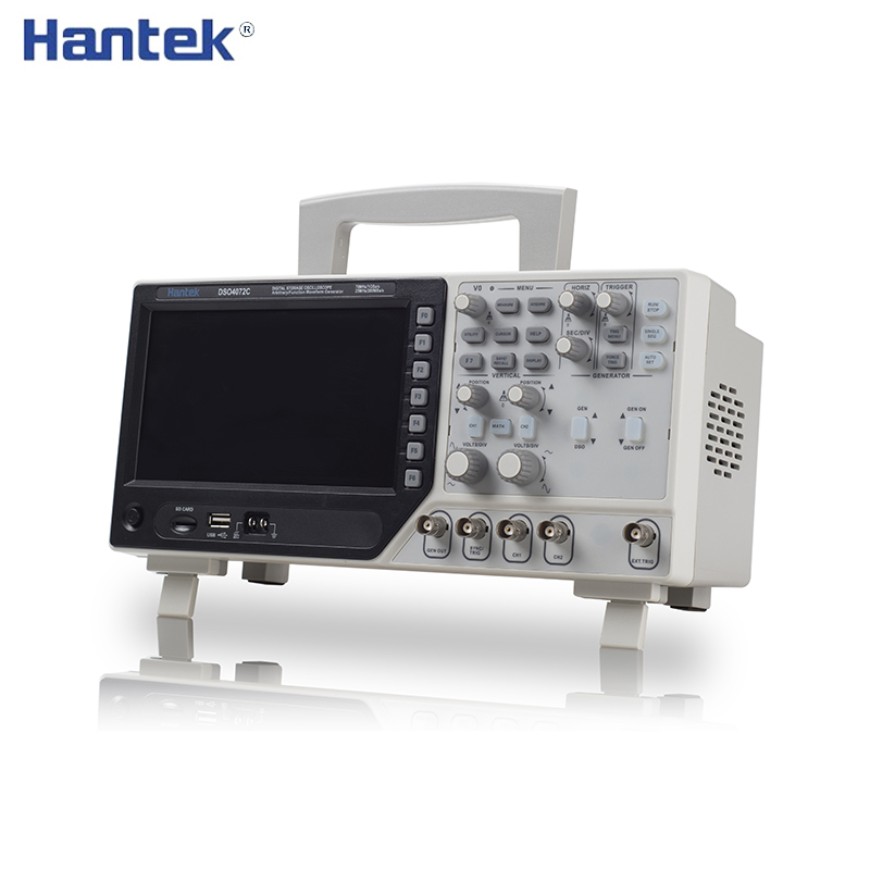 Hantek 2 Channel Digital Oscilloscope 1 Channel Arbitrary/Function Waveform Generator 70-200MHz DSO4072C DSO4102C DSO4202C image