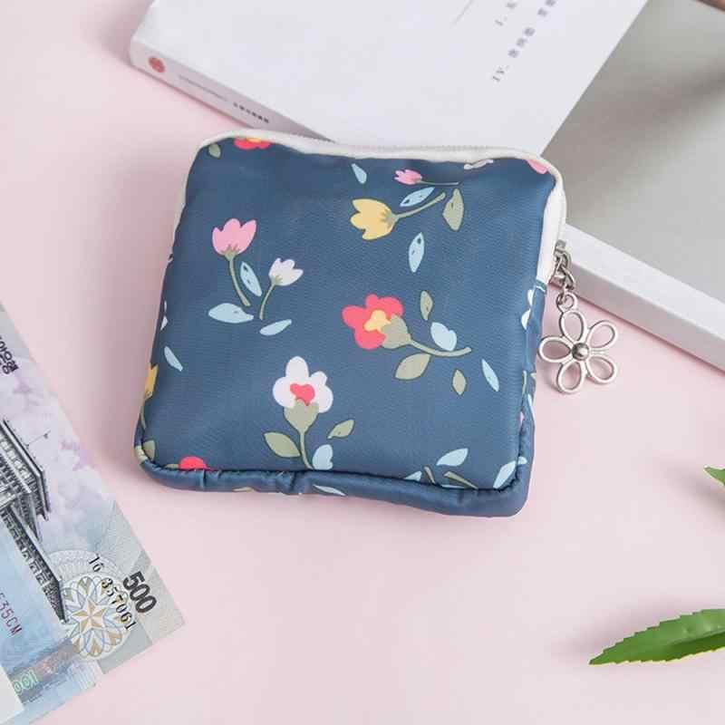 Śliczne moda kobieta serwetka torba moneta uchwyt torebki organizator przechowywania torby zamek portfel woreczek na klucze ciocia torba na ręczniki podpaska higieniczna torba