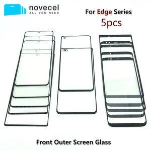 """Image 1 - 5 sztuk/partia Novecel AAA przednia zewnętrzna szklana wymiana obiektywu do Samsung Galaxy S20 S8 S9 + plus 5.8 """"G955 G965 6.2"""" uwaga 8 czarny"""