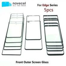 """5 teile/los Novecel AAA Vorderen Äußeren Glas Objektiv Ersatz Für Samsung Galaxy S20 S8 S9 + plus 5.8 """"G955 g965 6,2"""" Hinweis 8 schwarz"""