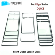 """5pcs/lot Novecel AAA Front Outer Glass Lens Replacement For Samsung Galaxy S20 S8 S9 + plus 5.8"""" G955 G965 6.2 """" Note 8 black"""