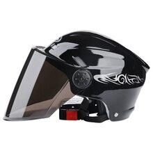 Motorhelm Half Helm Scooter Crash Helm Motorbike Helm Zomer Helm Unisex Zonnescherm Zon Bescherming