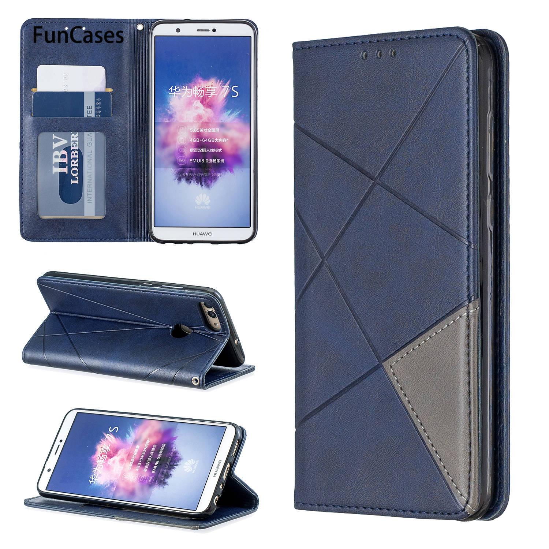 Wallet Cellular Phone Cases For estuche Huawei P Smart sFor Estuche Huawei cover Enjoy 7S Honor 9 Lite Flip Wallet Case Book(China)