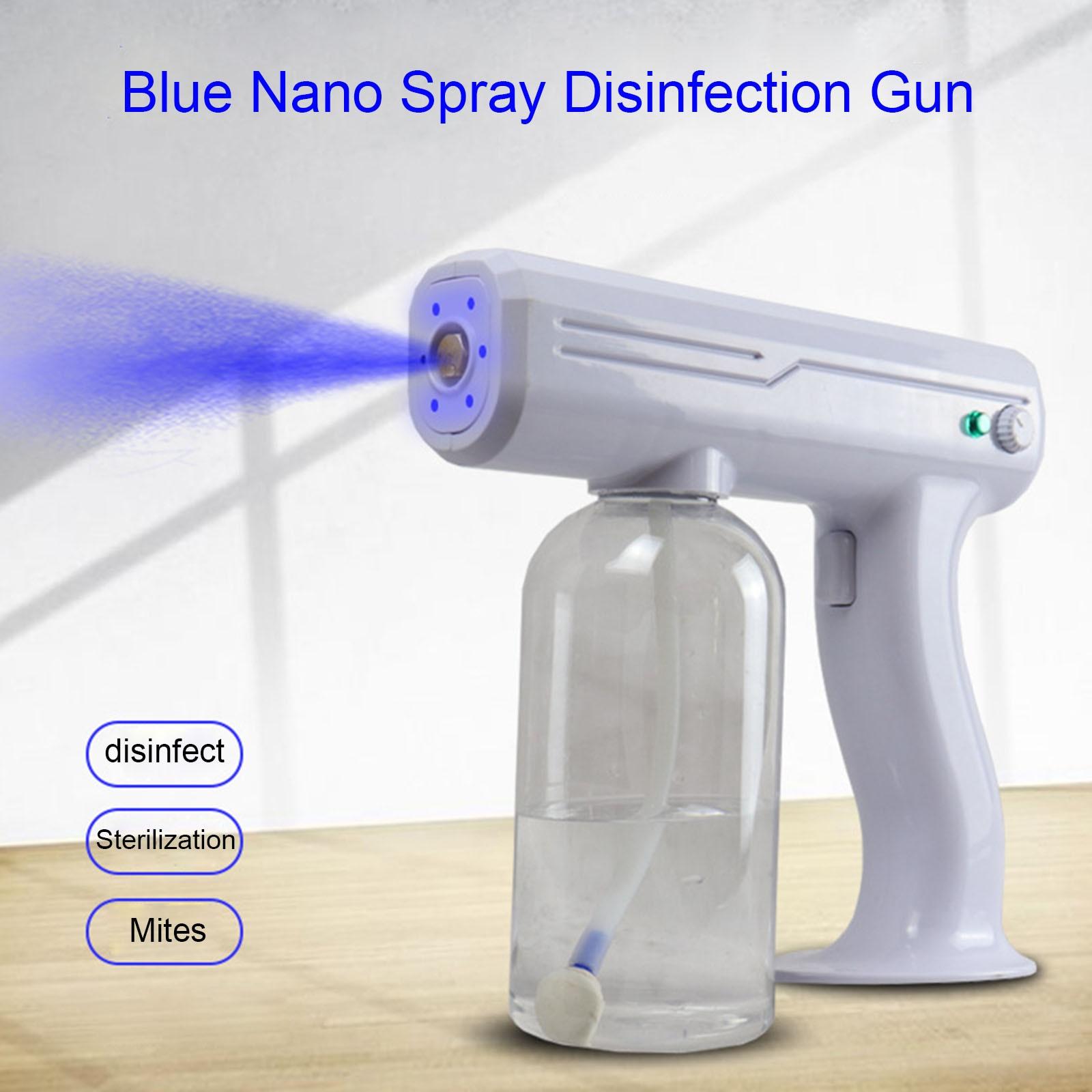 Перезаряжаемый электростатический аккумулятор туман машина портативный распылитель пистолет беспроводной зарядка нано синий луч распылитель офис школа