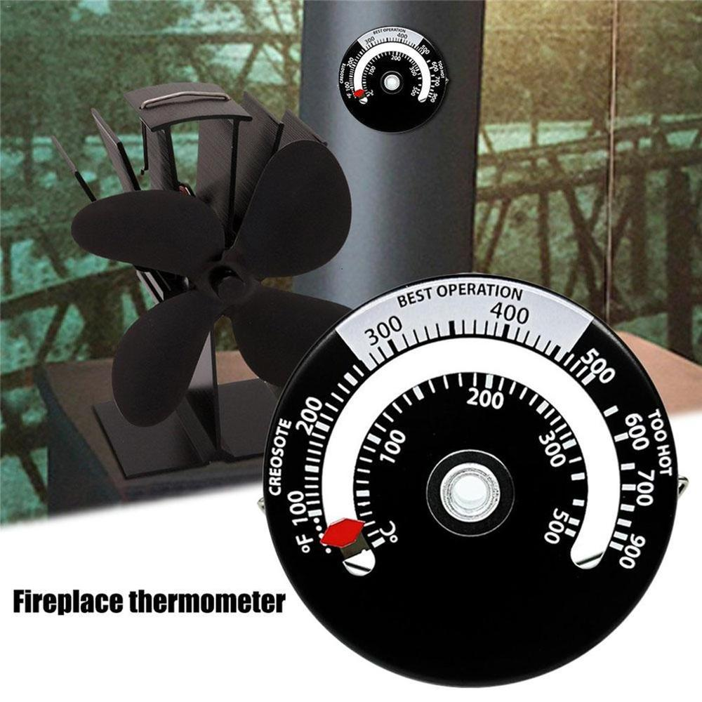 Magnetic Wood Stove Thermometer Home Fireplace Fan Stove Thermometer with Probe Household Sensitivity Barbecue Oven Tools