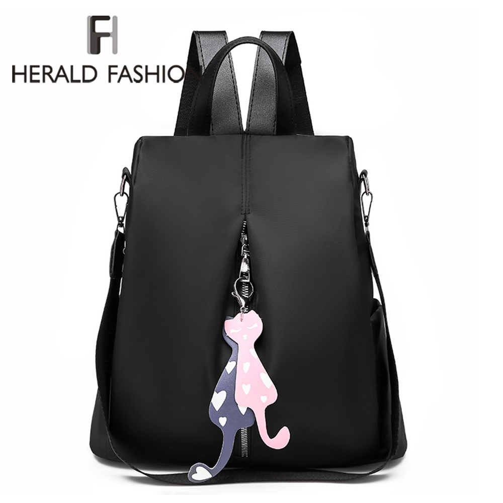 NEW Women's Anti-theft Backpack Fashion Simple Solid Color School Bag Oxford Cloth Shoulder Bag High Capacity Travel Backpacks