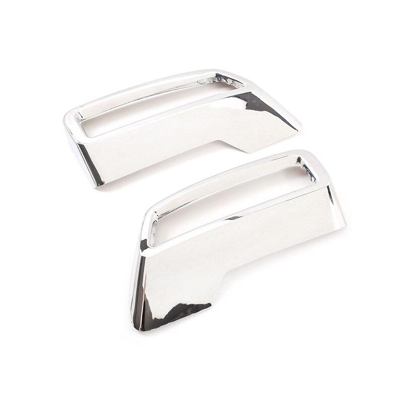 Внешняя хромированная рамка для украшения хвоста и горла для Peugeot 3008 5008 4008 выхлопной глушитель торцевые Чехлы для труб наклейки автомобильн...