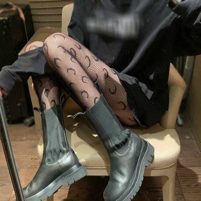 Gothic Sexy Fishnet Stockings Black White Stockings Japanese Hollow Breathable Handsome Versatile Sexy Women Pantyhose Tights