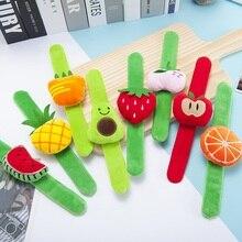 Кавайный браслет на запястье с фруктовым выражением, кольцо для ребенка, детская игрушка, плюшевая кукла, колокольчик, детское кольцо