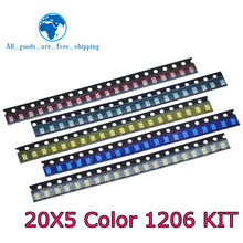 Led-Light Yellow 1206 Package X20pcs White Green-Blue 5-Colors SMD Red