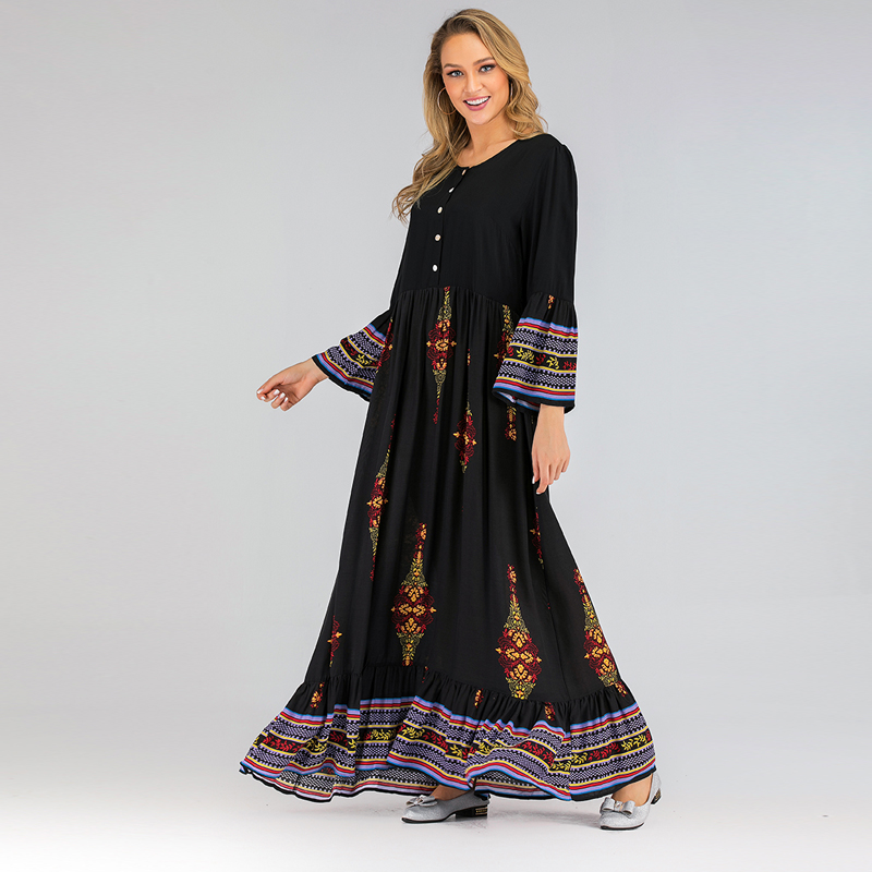 Black Dubai Abaya Turkish Hijab Muslim Dress Robe Islam Abayas For Women Caftan Kaftan Islamic Clothing Robe Vestidos Musulmanes