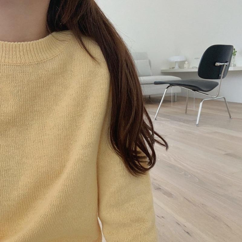 Новинка Повседневный свитер Женский пуловер повседневный вязаный