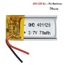 3,7 V 80mAh 401120 wiederaufladbare li ionen lithium-batterie li polymer lipo batterie Für Bluetooth Kopfhörer Selfie Stick MP3 GPS