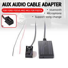 for Ford for Focus Mk2 MK3 for Fiesta bluetooth Aux Receiver Cable Adapter Hands-free Hifi aux module Head Unit Interface bluetooth hands free adaptor car integrated usb aux jack interface for volkswagen touran 2003 2011