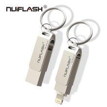 Para o iphone x/8/7/7 plus/6/6s/5 movimentação flash usb do metal da movimentação da pena do ipad 8 gb 16 gb 32 gb 64 gb 128 gb da vara da memória micro disco u da chave de usb