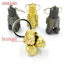 цена на Non-rotatable  pendant Folsom Oilfield Tricone three cone rotary drill bit pendant oil well oilfield jewelry gift sticker charm