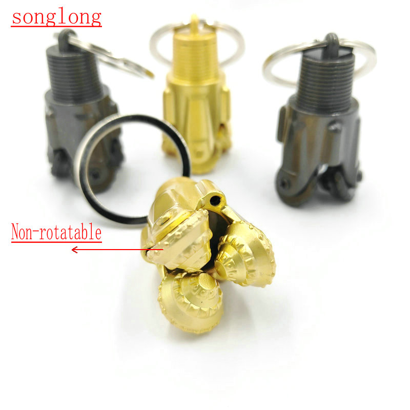PDC drill bit keychain pendant oilfield tricone gas oil well rig roughneck gift