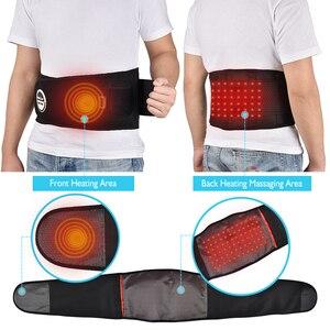 Image 3 - Terapia de calor infrarroja para masaje de cintura, correa de espalda herniada, disco de escoliosis, alivio del dolor de espalda, soporte Lumbar de columna vertebral, masajeador de espalda