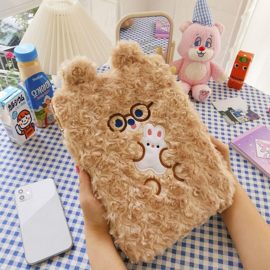 Etui na Tablet Cute cartoon Dudu ipad torba 11 cali 10.5 cala 9.7 cala torba liniowa koreański ins wiatr dziewczyna tablet torba cute tide girls