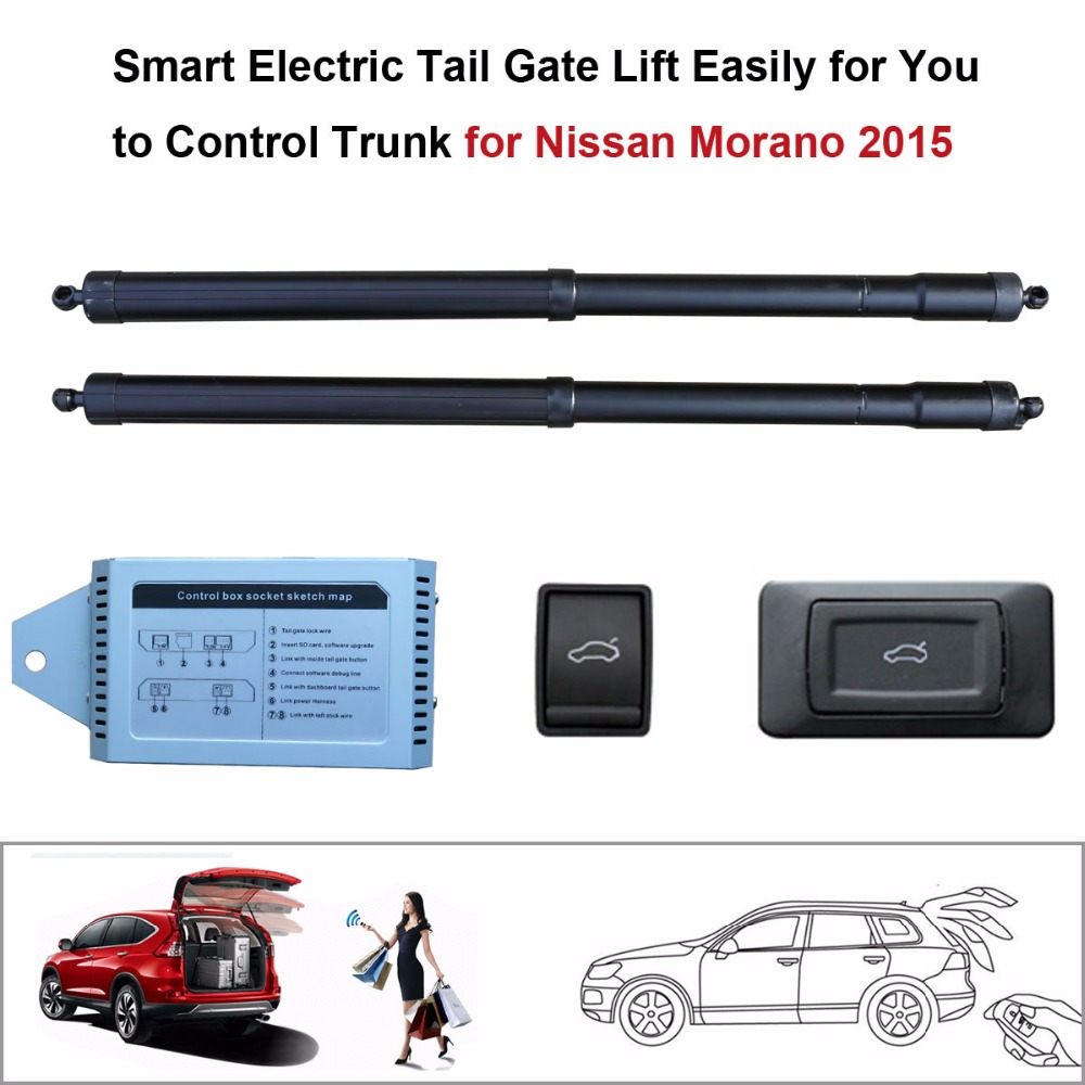 Car Smart Auto Electric Tail Gate Lift For Nissan Murano 2015 Control Set Height Avoid Pinch With Latch