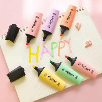 5 pièces mignon Macaron mini marqueur surligneur stylo ensemble Fluorescent couleur Liner pour papier copie fax bureau accessoires école F713