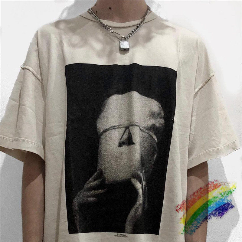 Washed Vintage LUCKVICIOUS T Shirt Men Women 1:1 Top Version T-shirt Streetwear Top Tees