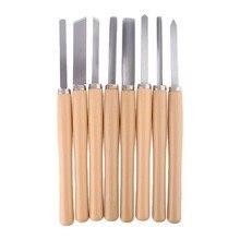 Juego de cinceles de torno de Cuchilla de talla de madera, herramientas de torneado para carpintería, Gouge skew7xea, 8 Uds.
