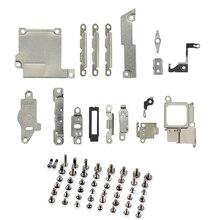 2 упаковки/комплект запасные части металлический держатель кронштейн крепежная разделительная прокладка+ полный набор винтов для iPhone 5 5c 5S