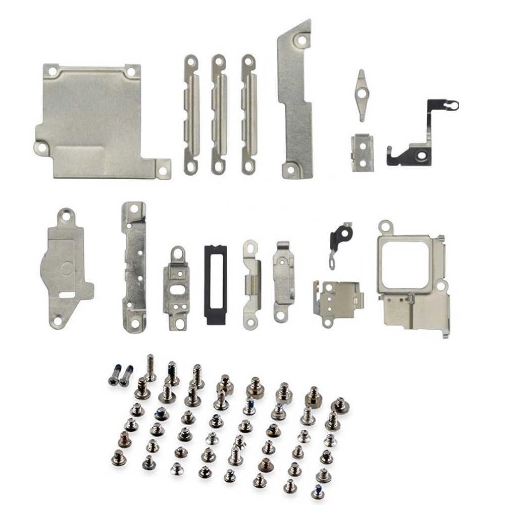 2 Pack/Lot Perbaikan Suku Cadang Pengganti Logam Pemegang Bracket Pengikat Pad Spacer + Full Set Sekrup untuk iPhone 5 5c 5S