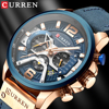 Wristwatch Mens CURREN  Top Brand Luxury Sports Watch Men Fashion Leather Chronograph Watches with Date for Men Male Clock 1